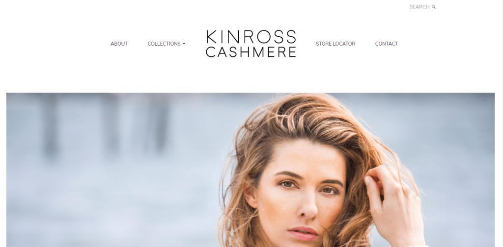 kinross cashmere website homepage