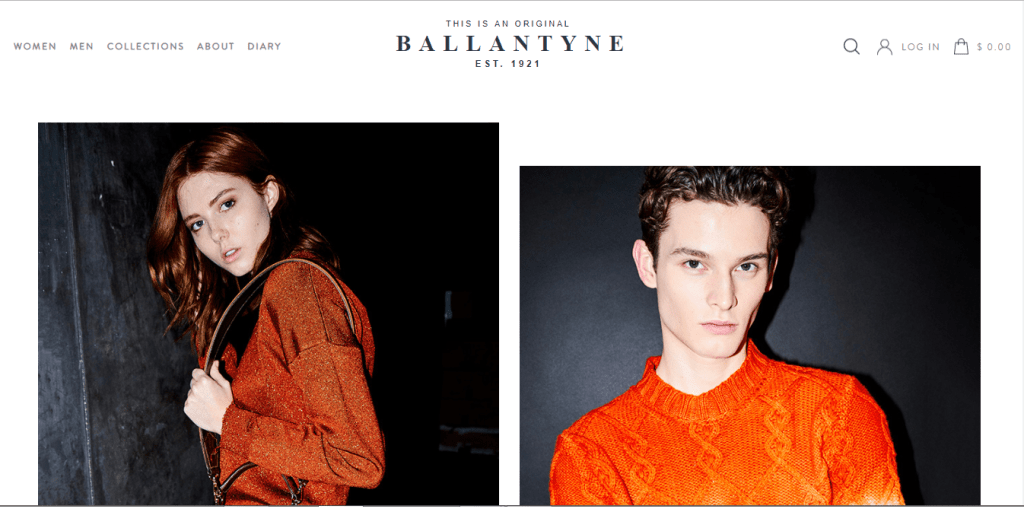 ballantyne homepage screenshot
