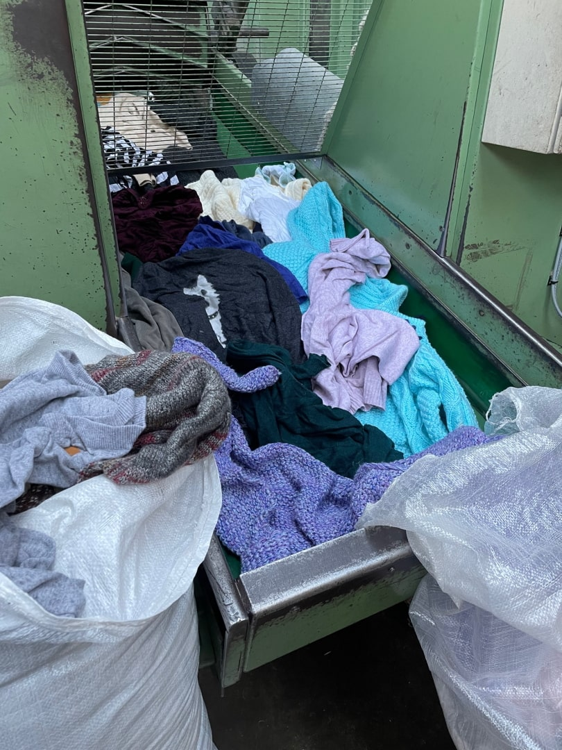 used clothing been shredded for recycling